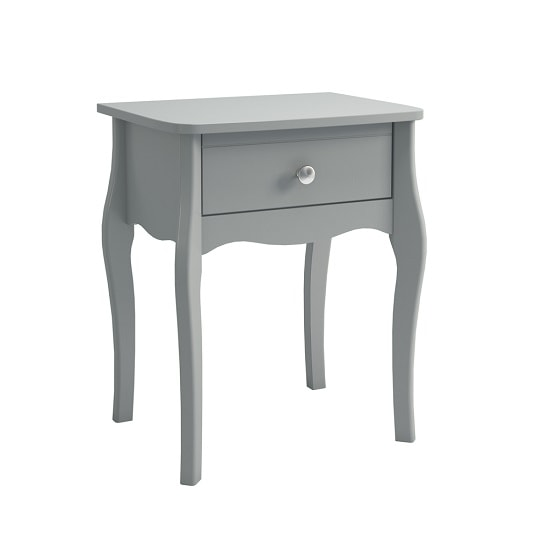 Alice Wooden Bedside Cabinet In Grey With 1 Drawer
