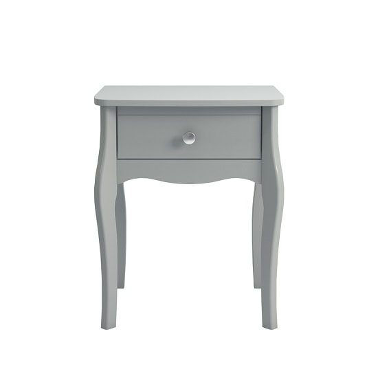 Alice Wooden Bedside Cabinet In Grey With 1 Drawer_2