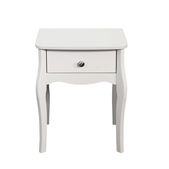 Alice Wooden Bedside Cabinet In White With 1 Drawer_3