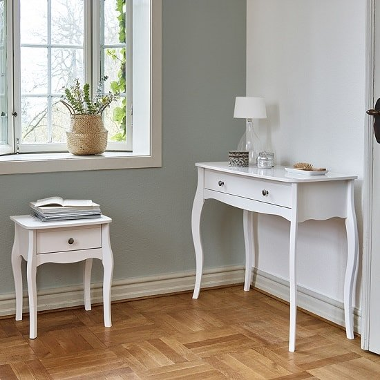 Alice Wooden Bedside Cabinet In White With 1 Drawer_9