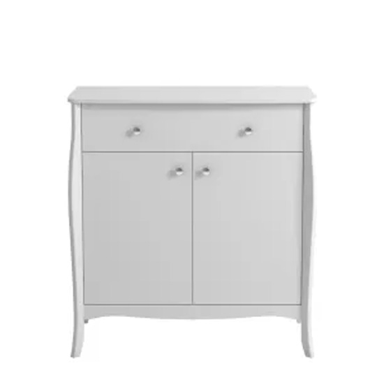 Alice Wooden Sideboard In White With 2 Doors And 1 Drawer_1