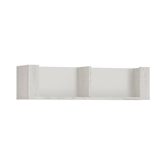 Alink Wooden Small Wall Shelf In White