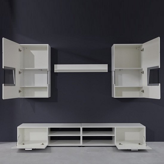 Alison Living Room Set In White With High Gloss Fronts And LED_2