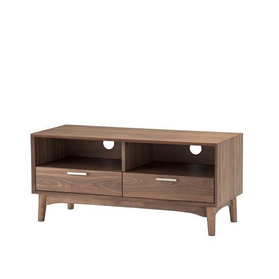 Alison Wooden Small Tv Stand In Walnut With 2 Drawers 27784