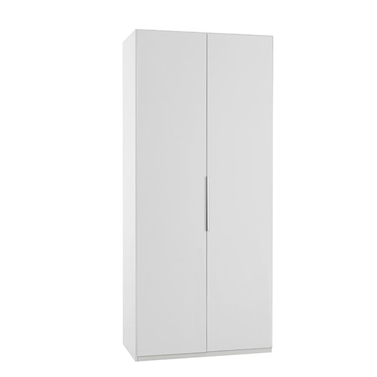 Alkes Wooden Wardrobe In White With 2 Doors