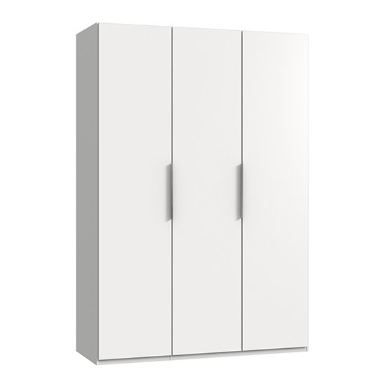 Alkes Wooden Wardrobe In White With 3 Doors