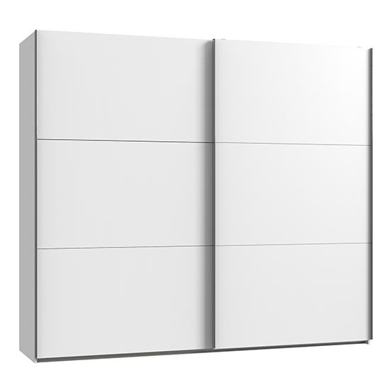 View Alkesu wooden sliding door wardrobe in white