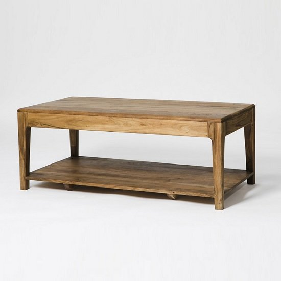Allegro Wooden Coffee Table Rectangular In Acacia Wood