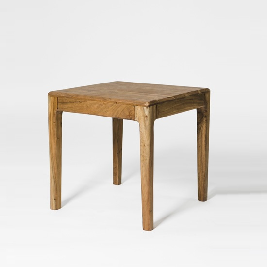 Allegro Wooden End Table Square In Acacia Wood