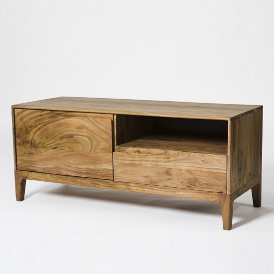 Allegro Wooden TV Stand Rectangular In Acacia Wood