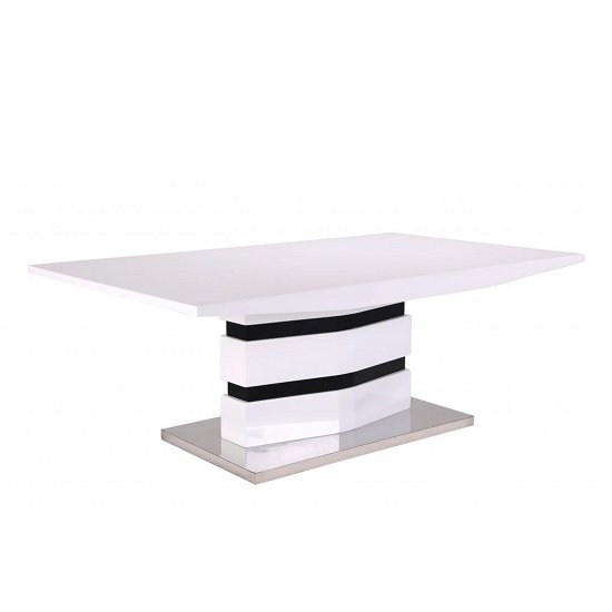 View Allesia high gloss coffee table rectangular in white and black