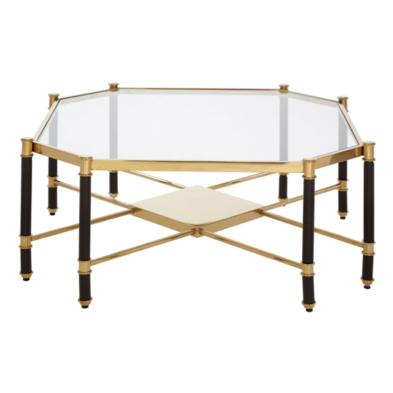 Allessa Glass Coffee Table In Champagne