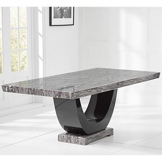 Allie Marble Large Dining Table In Dark Grey And Black_2