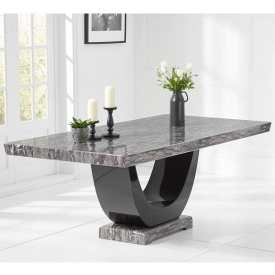 Allie Marble Large Dining Table In Dark Grey And Black_1