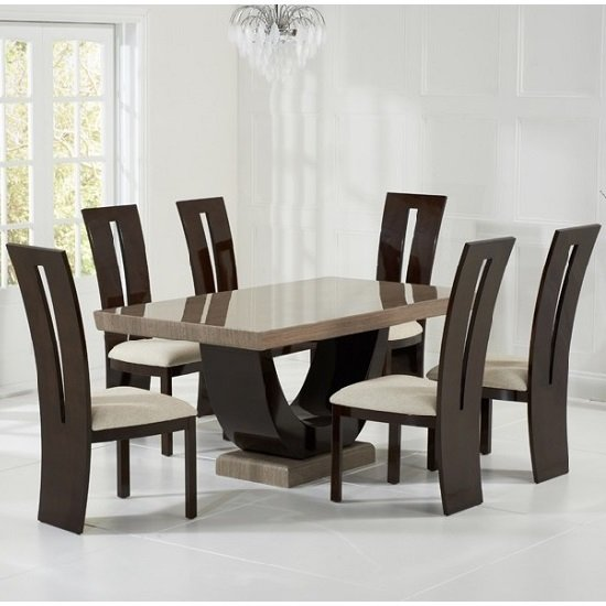 Top 10 cheapest marble dining table prices best uk deals for Dining table set deals