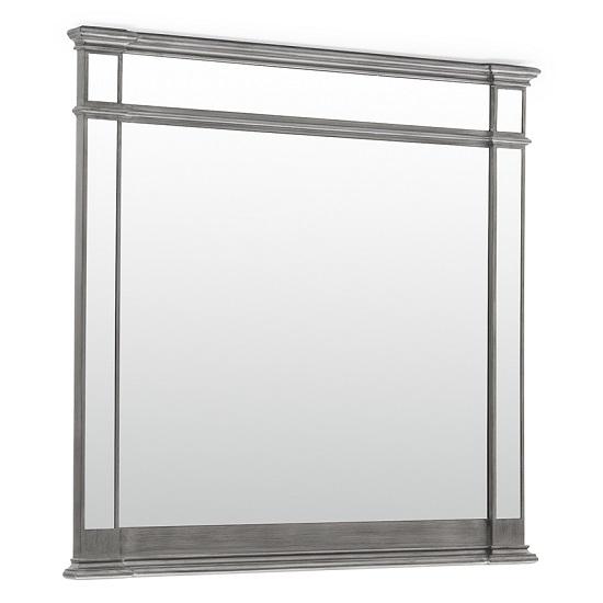 Alloa Contemporary Wooden Dressing Mirror In Grey