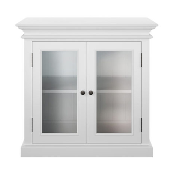 Allthorp 2 Glass Doors Display Cabinet In Classic White_2