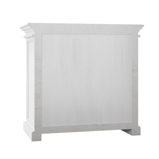 Allthorp 2 Glass Doors Display Cabinet In Classic White_3