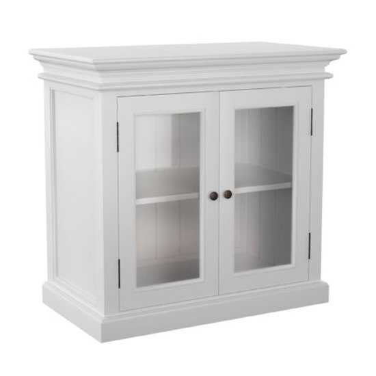Allthorp 2 Glass Doors Display Cabinet In Classic White