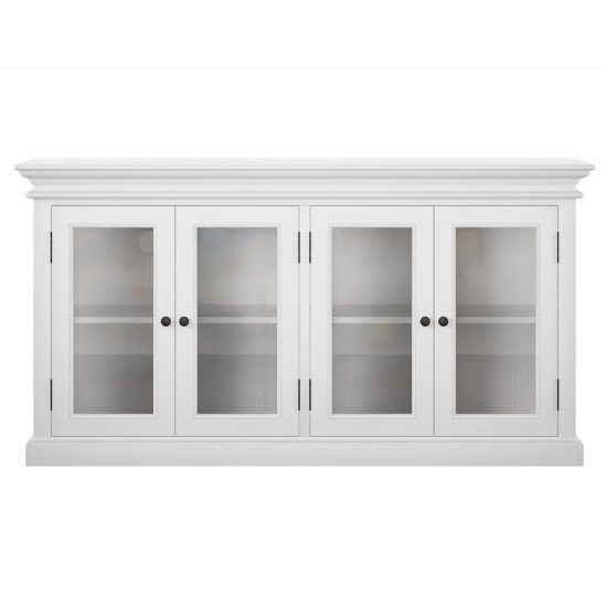 Allthorp 4 Glass Doors Display Cabinet In Classic White_2