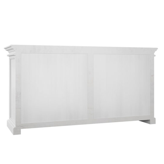 Allthorp 4 Glass Doors Display Cabinet In Classic White_3