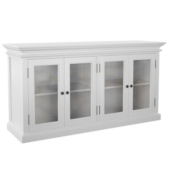 Allthorp 4 Glass Doors Display Cabinet In Classic White_1