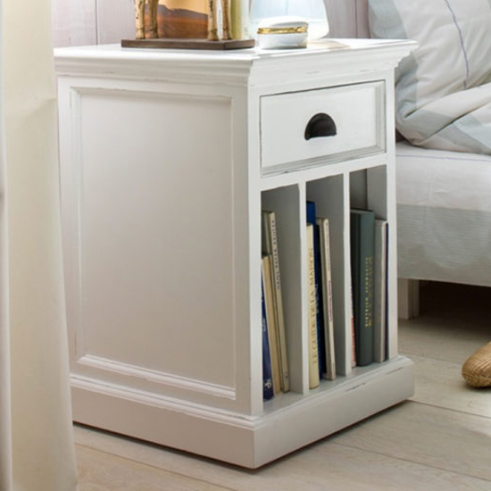 Allthorp Bedside Table With Dividers In Classic White