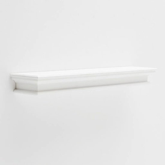 View Allthorp extra long floating wall shelf in classic white