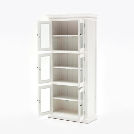 Allthorp Large Wooden Display Cabinet In Classic White_3