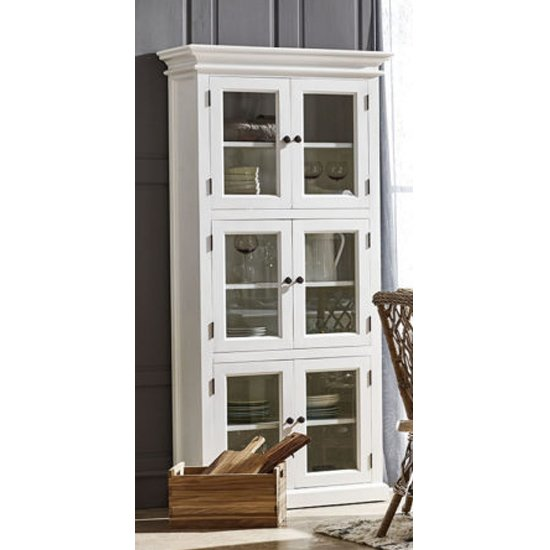 Allthorp Large Wooden Display Cabinet In Classic White_1