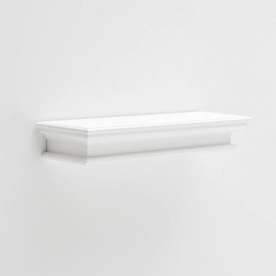 Allthorp Long Floating Wall Shelf In Classic White
