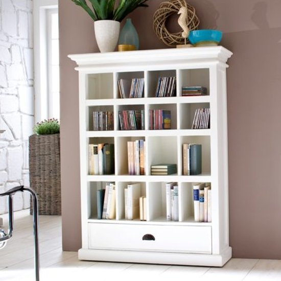 View Allthorp medium dvd storage stand in classic white