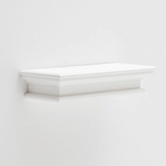 View Allthorp medium floating wall shelf in classic white