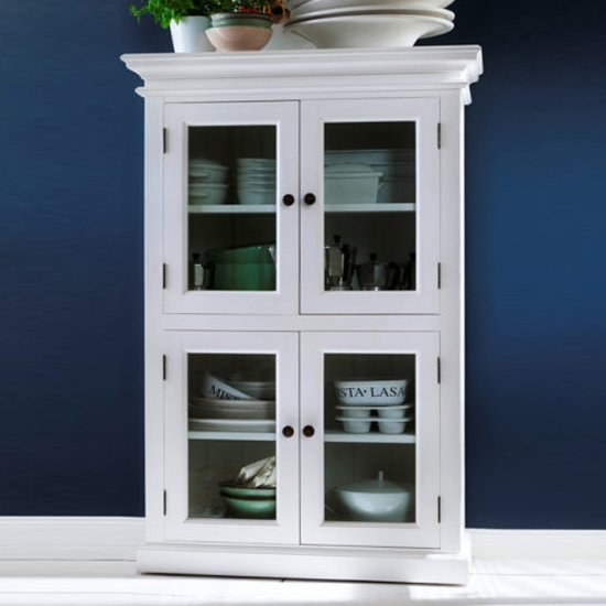 Allthorp Medium Wooden Display Cabinet In Classic White