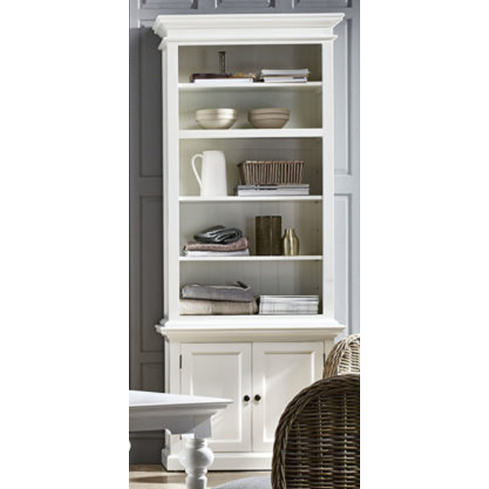 Allthorp Single Bay Storage Hutch Unit In Classic White