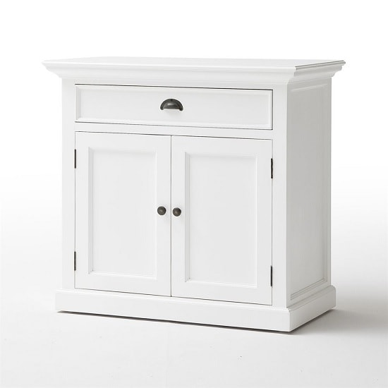 Allthorp Solid Wood Compact Sideboard In White With 2 Doors_3