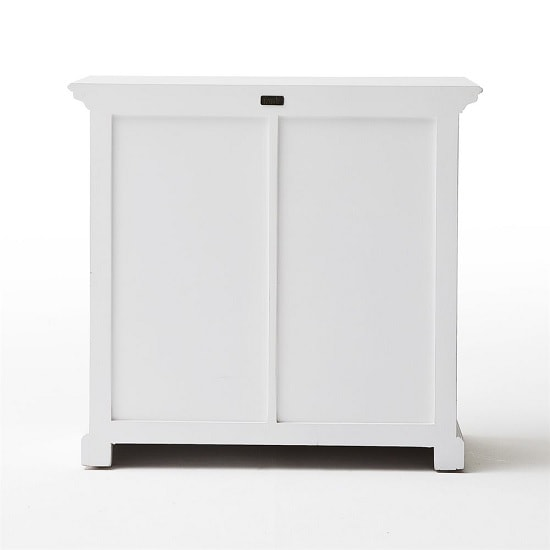 Allthorp Solid Wood Compact Sideboard In White With 2 Doors_6