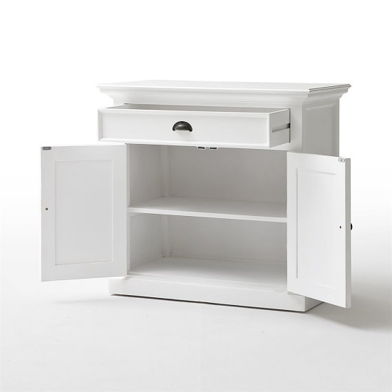Allthorp Solid Wood Compact Sideboard In White With 2 Doors_5