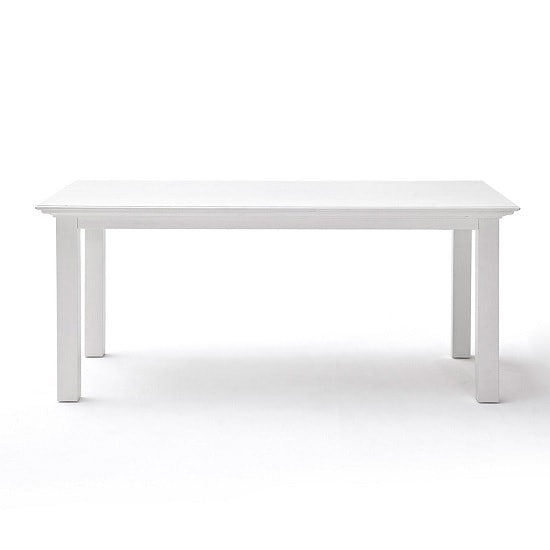 White Wood Dining Room Table: Allthorp Solid Wood Dining Table Rectangular In White 32076