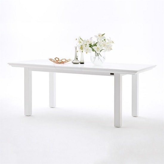 Allthorp Solid Wood Extendable Dining Table Rectangular In White_1