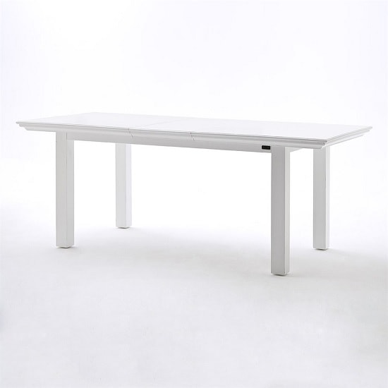 Allthorp Solid Wood Extendable Dining Table Rectangular In White_2