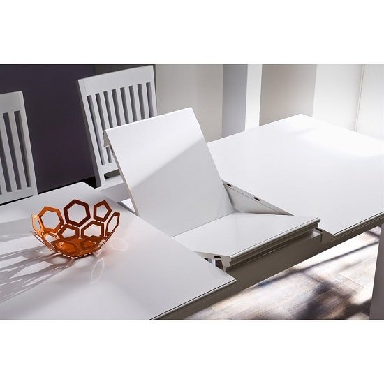 Allthorp Solid Wood Extendable Dining Table Rectangular In White_3
