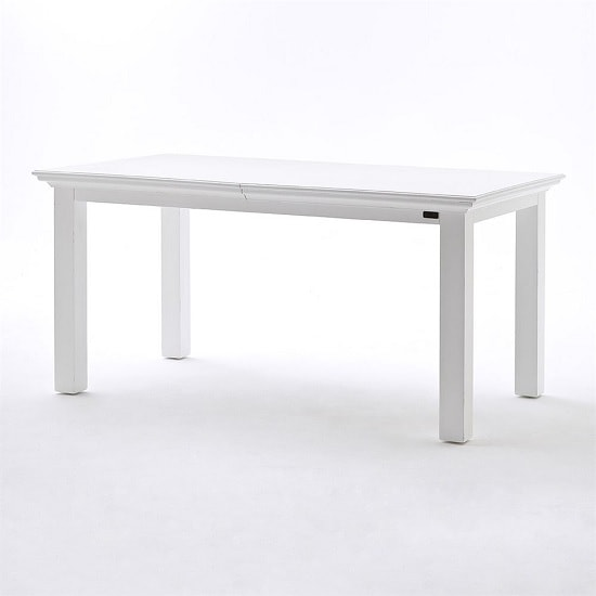 Allthorp Solid Wood Extendable Dining Table Rectangular In White_5