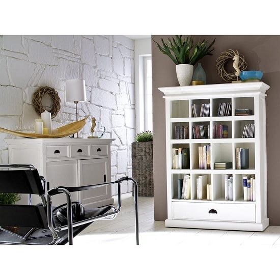 Allthorp Solid Wood Sideboard In White With 2 Sliding Doors_6