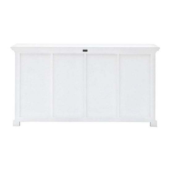 Allthorp Solid Wood Sideboard In White With 2 Doors 4 Baskets_5