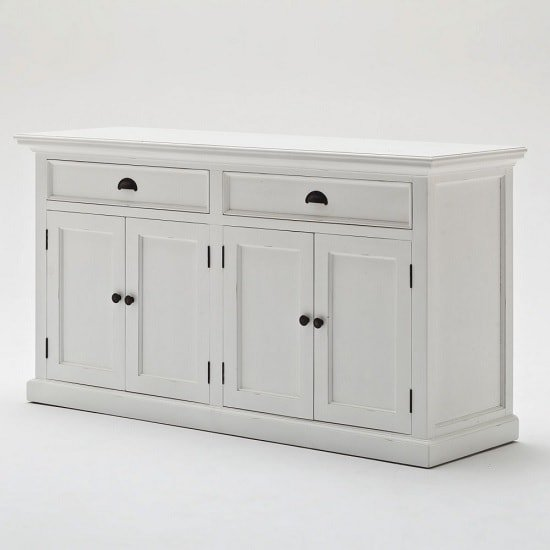 Allthorp Solid Wood Sideboard In White With 4 Doors_5