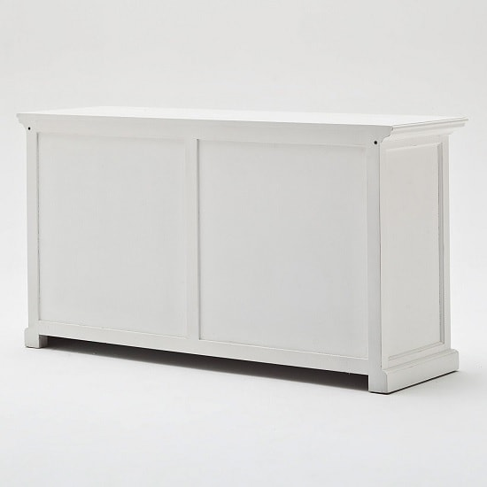 Allthorp Solid Wood Sideboard In White With 4 Doors_7