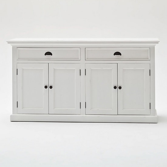 Allthorp Solid Wood Sideboard In White With 4 Doors_6