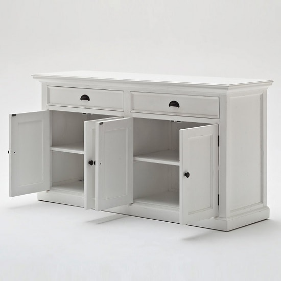 Allthorp Solid Wood Sideboard In White With 4 Doors_4