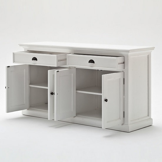 Allthorp Solid Wood Sideboard In White With 4 Doors_3
